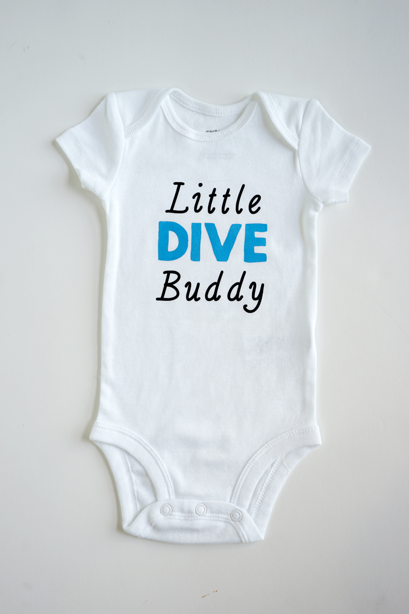 Scuba Diving Baby Romper ~ Baby Girl Scuba Onesie ~ Scuba Bodysuit ~ Personalized Baby Onesie ~ Customized Baby Onesie ~ Little Dive Buddy